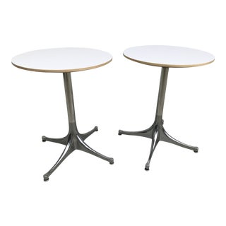 George Nelson for Herman Miller Pedestal Side Tables - a Pair For Sale