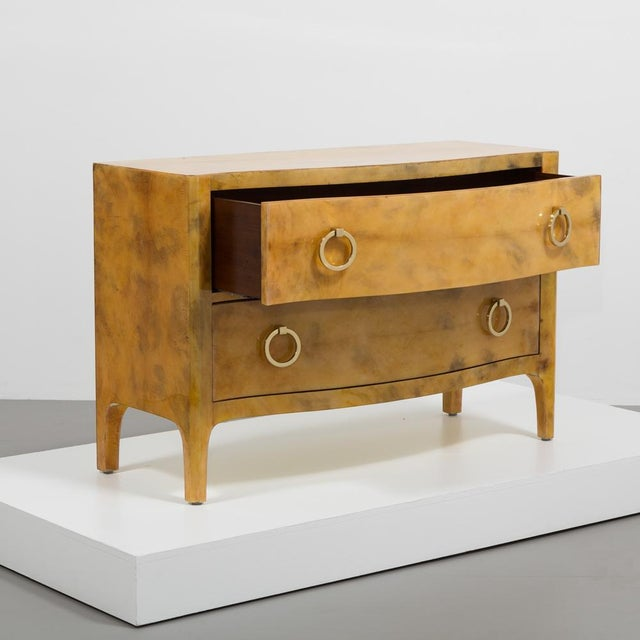1970s Lacquered Goatskin Commode 1970's For Sale - Image 5 of 8