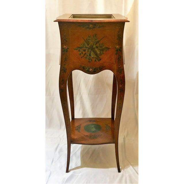 Antique English Adam Design Satinwood Jardiniere.