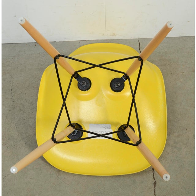 Eames for Herman Miller Yellow Fiberglass Chair For Sale In Washington DC - Image 6 of 9