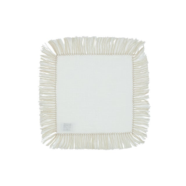 Our beautiful hand-knotted fringe cocktail napkins in neutral tones will compliment your party beautifully. These can be...