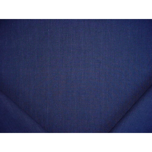 Ralph Lauren Papyrus Terry Indigo Blue Cotton Drapery Upholstery Fabric- 9-3/4 Yards For Sale