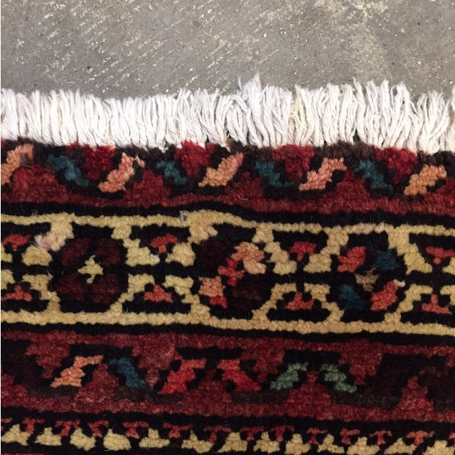 "Hamadan Hand Made Persian Rug - 2'5"" x 3'2"" - Image 9 of 9"
