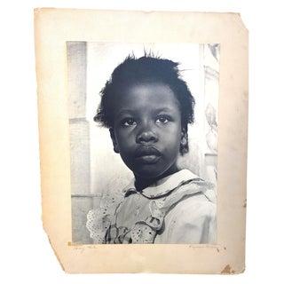 """1950s Vintage Eugenia Buxton """"Honey Chile"""" Child Portrait Photograph For Sale"""