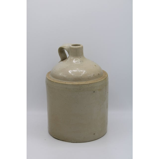 Antique Stoneware Farmhouse Crock Jugs - a Pair For Sale - Image 6 of 10