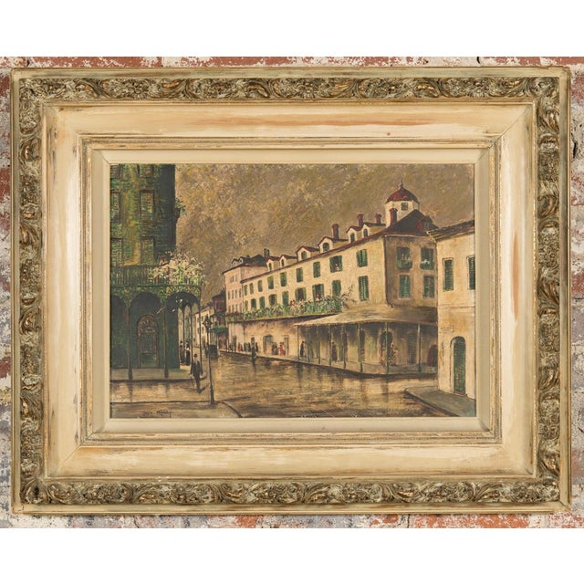 "George Orry-Kelly ""New Orleans Bourbon Street"" Oil Painting c.1950s. Oil painting on board. Orry George Kelly (1897-1964),..."