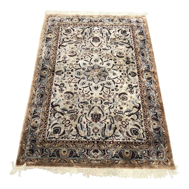 6ft X 9ft Chinese Silk 180 Line Isfahan Design Rug Chairish