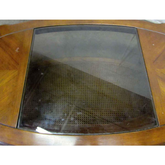 Glass Top Insert Coffee Table For Sale - Image 4 of 8