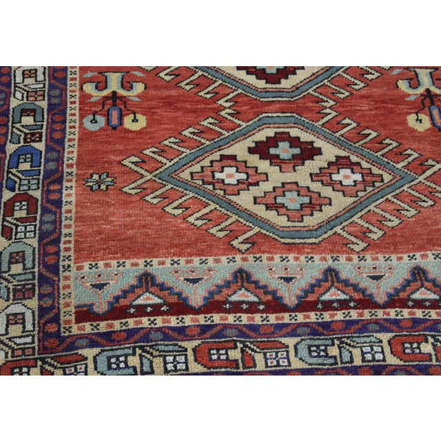 Vintage Oushak Wool Hand Knotted Rug - 4′6″ × 8′1″ - Image 7 of 11