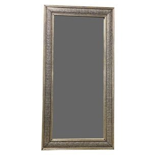 Hand Embossed and Stamped Large Arabasque Mirror For Sale