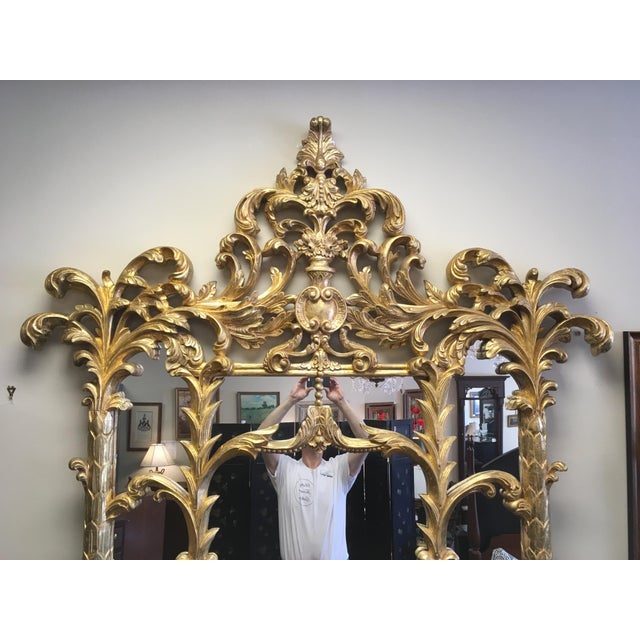 1990s Vintage Italian Gilded Pier Mirror For Sale - Image 4 of 13