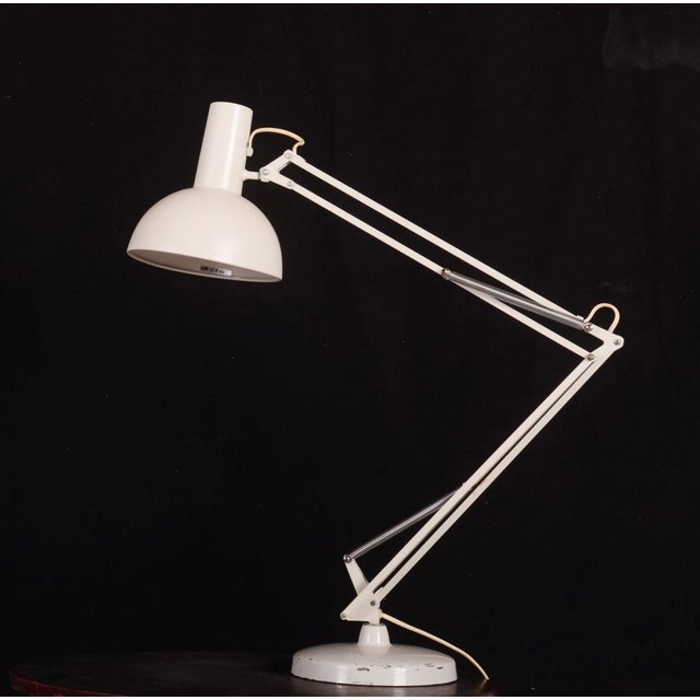 White Steel Table Lamp by Louis Poulsen, 1970s For Sale - Image 8 of 8