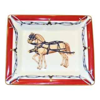 Vintage Daniel Hechter Royal Coach Porcelain Gentleman's Tray For Sale