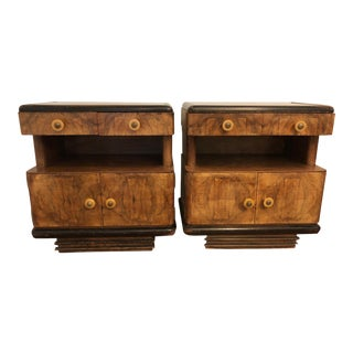 20th Century Art Deco Nightstands - a Pair For Sale