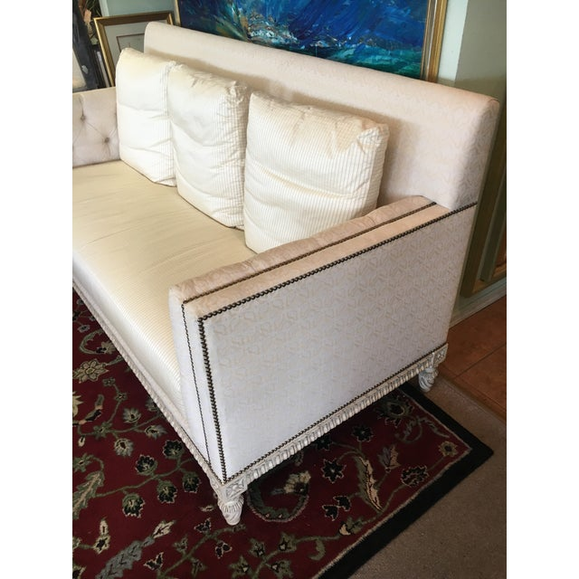 William Switzer Ivory Sofa - Image 3 of 9