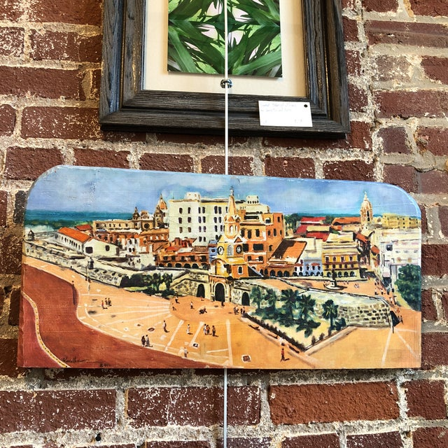 Coastal Cityscape Painting of Cartagena For Sale - Image 9 of 9