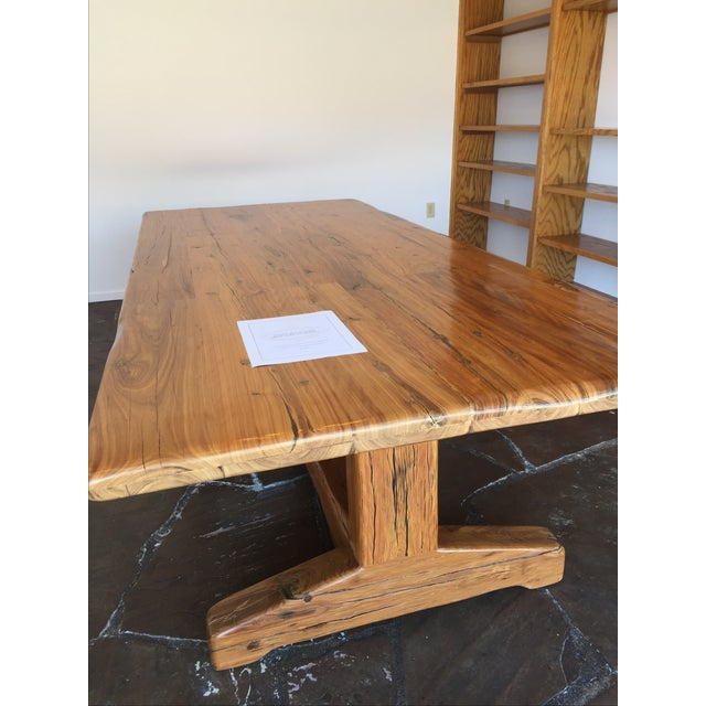 Jarrah Wood Rustic Dining / Communal Table - Image 3 of 4