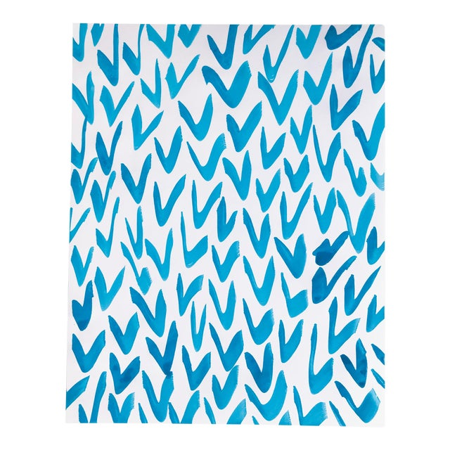 Contemporary Blue and White Pattern Painting For Sale