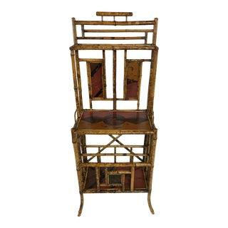 19th Century English Bamboo Shelf For Sale