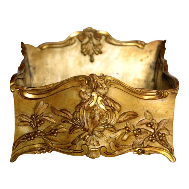 19th Century French Decorated Gilt Bronze Box - Image 1 of 11