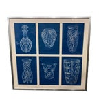 Image of English Blue and White Waterford Crystal Proof Sheet - Large For Sale