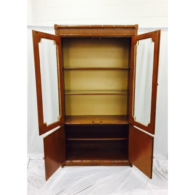 Vintage Chippendale Style China Cabinet - Image 8 of 10