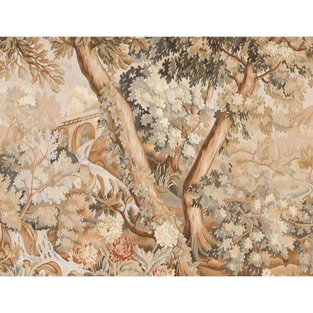 """Chinese Abusson Landscape Tapestry. 5'7""""x 8' - Image 2 of 2"""