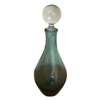 Hand Blown Blue Glass Decanter
