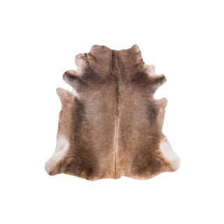 "Natural Cowhide Area Rug - 6'3"" x 5'7"" For Sale"