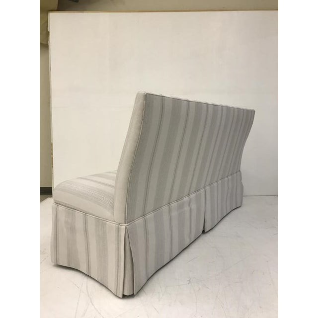 Century Furniture Century Furniture Skirted Armless Banquette For Sale - Image 4 of 5