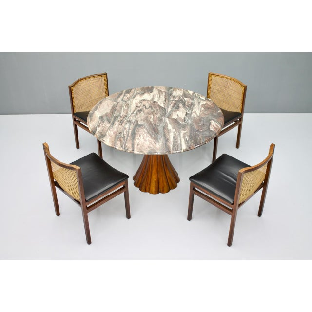 Fantastic Tulip Marble Dining Table Cast Metal Italy 1960s For Sale - Image 12 of 13