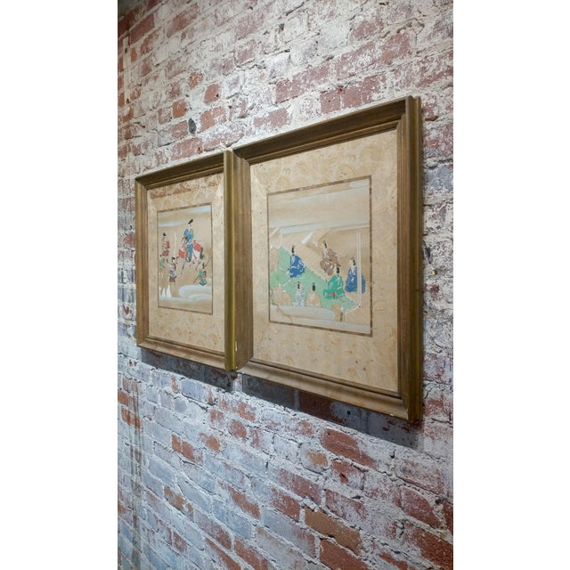 Chinese Antique Paintings on Paper - a Pair For Sale - Image 9 of 10