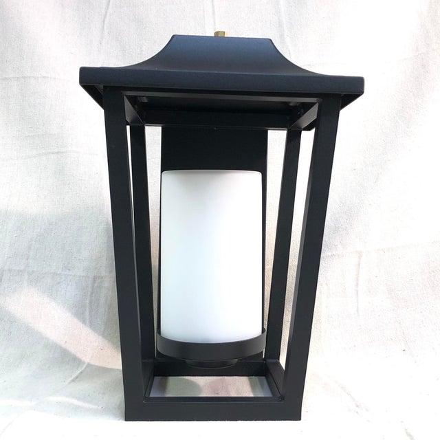 Hinkley Lighting Sullivan Outdoor Black Lantern Wall Sconce For Sale - Image 13 of 13