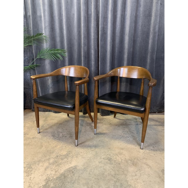 Mid-Century Modern Boling Chair Co. Sculptural Arm Chairs - a Pair For Sale - Image 12 of 12