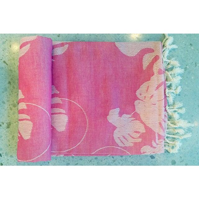 'Rio' Fuchsia Cotton Throw/Towel - Image 2 of 6