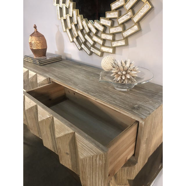 Elm Lorenzo Elm Wood Console With Drawers For Sale - Image 7 of 8
