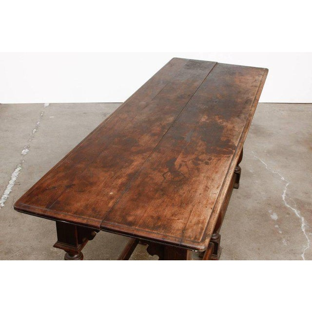 Brown 19th Century English Walnut Refectory or Console Table For Sale - Image 8 of 13