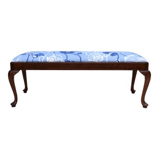 Century Furniture Queen Anne-Style Cherry Bench