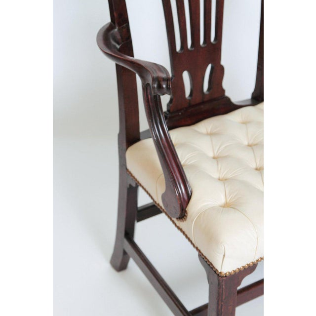Animal Skin Late 18th Century Chippendale Mahogany Armchair For Sale - Image 7 of 13