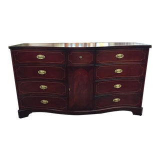 Inlaid Mahogany Buffet by White Furniture Company For Sale