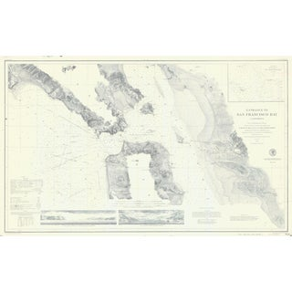 1859 Nautical Map of SF Bay Print For Sale