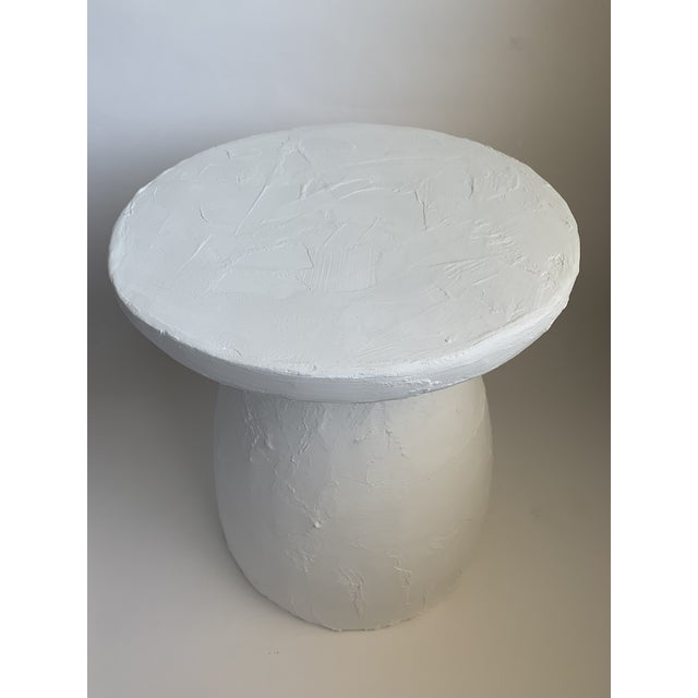 Wabi Textured Plaster Side Table For Sale - Image 4 of 4