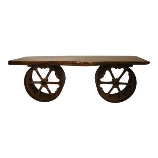 Unique Repurposed Chestnut Bench / Coffee Table