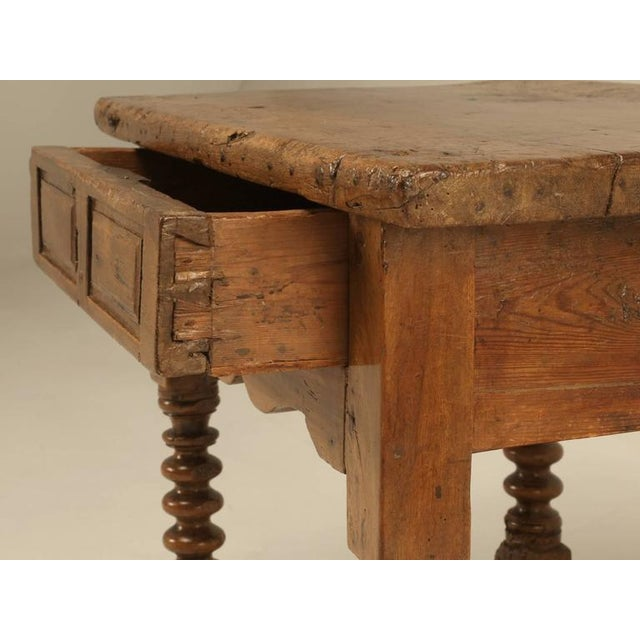 Antique Spanish Walnut End Table - Image 4 of 10