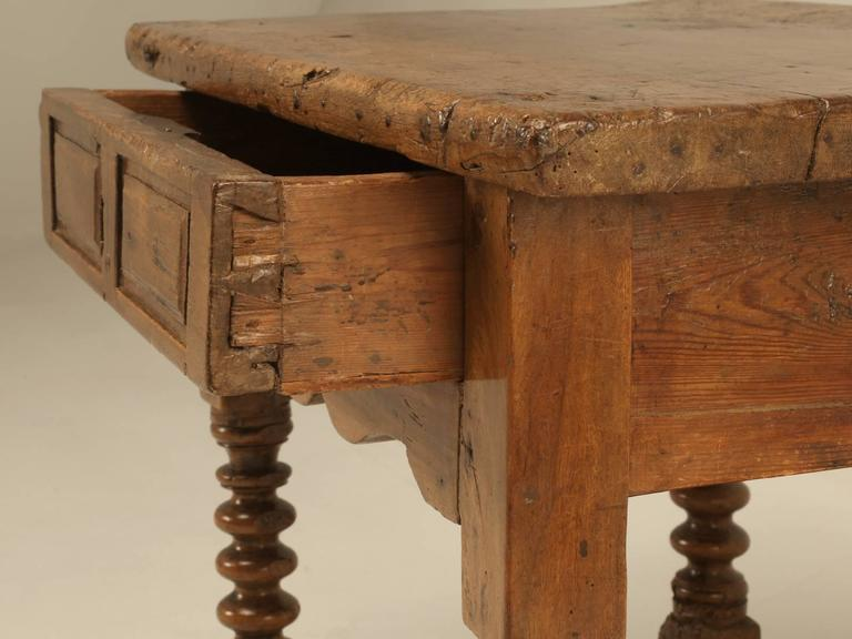 Antique Spanish Walnut End Table For Sale   Image 4 Of 10