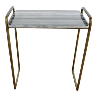 Contemporary West Elm Braxton Side Table For Sale