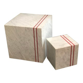 Resource Decor Cube Tables - a Pair For Sale