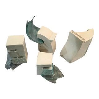 Mary Shaffer (American B 1947) Ceramic & Glass Models, 1991 Glazed - Set of 4 For Sale