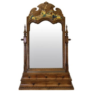 George III Chinoiserie Dressing Mirror