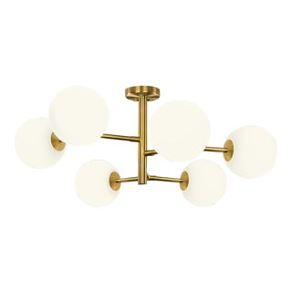 Constellation Brushed Brass 6 Arm Pendant Light